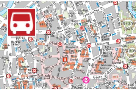 Stadtplan Verkehr Stadt Braunschweig