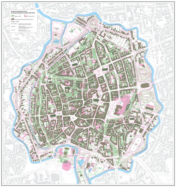 Karte Mit Hausnummern.Historisch Synoptische Karte Stadt Braunschweig
