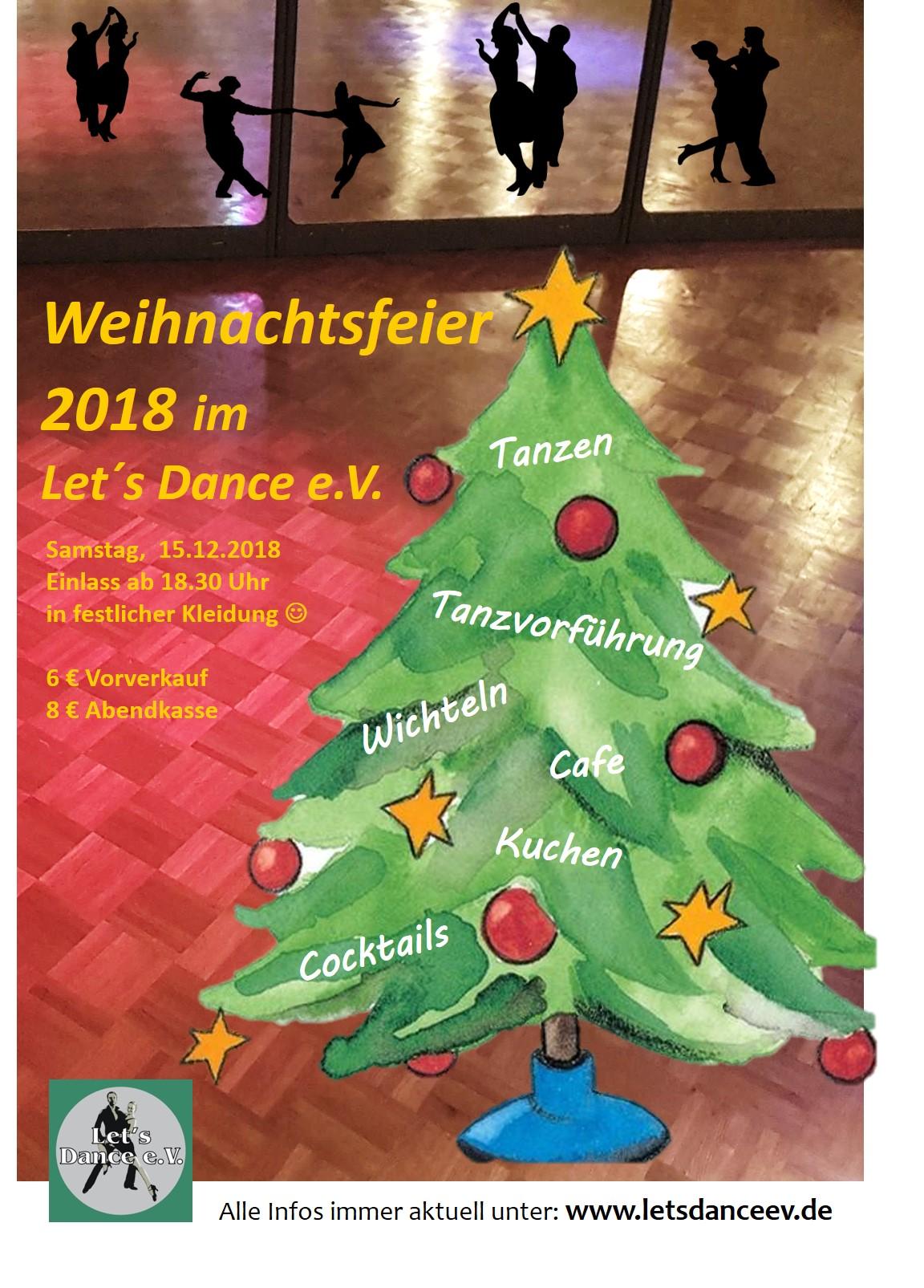 Weihnachtsfeier In Braunschweig.Weihnachtsfeier Im Let S Dance E V