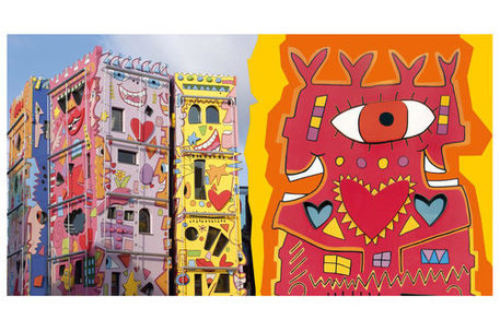 "Postkarte mit Motiv ""Happy Rizzi House"" von James Rizzi"